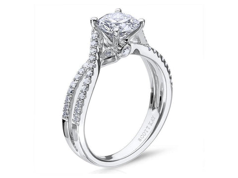 Scott Kay Luminaire .23ctw Engagement Ring Semi Mount in 14K White Gold