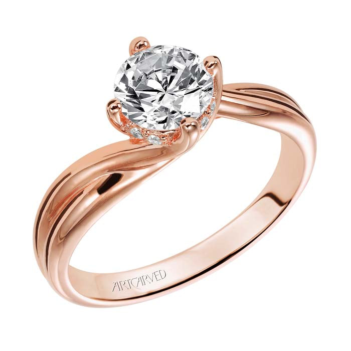 "Artcarved .048TW ""Whitney"" Engagement Ring Semi-Mounting in 14K Rose Gold"