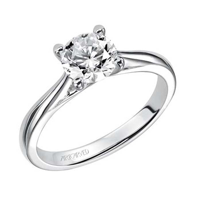 "Artcarved ""Lindsey"" Engagement Ring Semi-Mount in 14K White Gold"