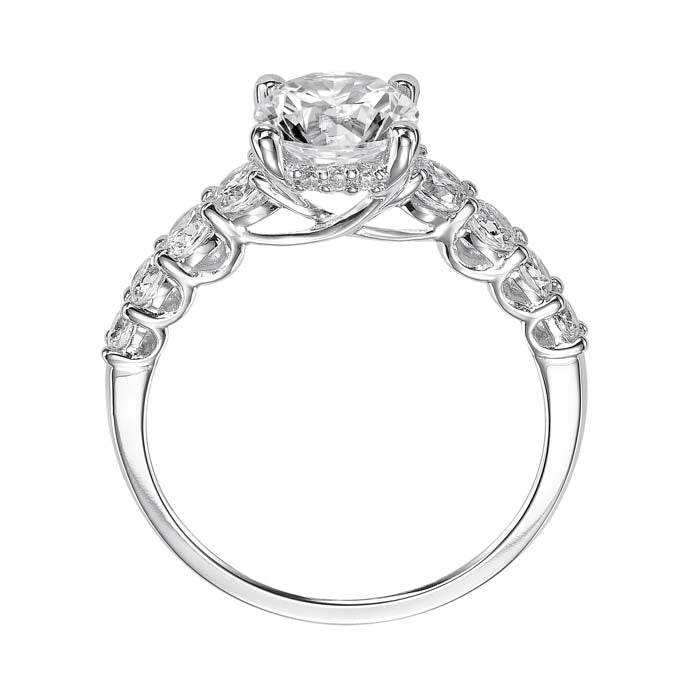 "Artcarved ""Leandra"" .70TW Diamond Engagement Ring Semi-Mounting in 14K White Gold"