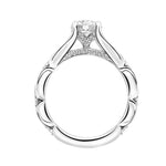 "Artcarved ""Lorene"" .33TW Diamond Engagement Ring Semi-Mounting in 14K White Gold"