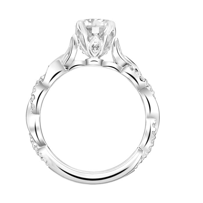 "Artcarved ""Amaryllis"" .20TW Diamond Engagement Ring Semi-Mounting in 14K White Gold"