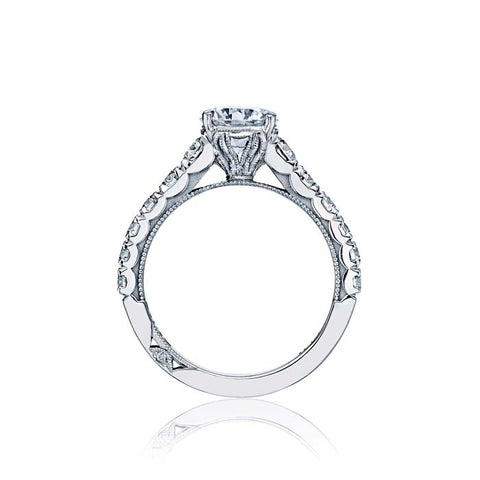 Tacori Clean Crescent Collection Engagement Ring Semi Mount 18K White Gold with Diamonds