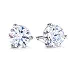 Mountz Collection .48-.54TW Round Diamond 3 Prong Stud Earrings in 14K White Gold