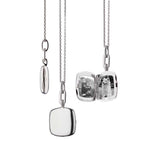 "Monica Rich Kosann Viv Slim Cushion Shaped Locket on 18"" Adjustable Diamond-Cut Cable Chain Sterling Silver"