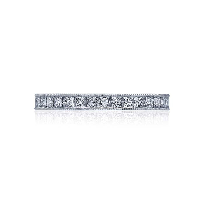 Tacori Sculpted Crescent Collection Wedding Band Platinum Ring with Diamonds
