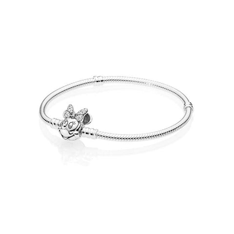 "Pandora 7.5"" Disney Shimmering Minnie Portrait Bracelet in Sterling Silver 597770CZ-19"