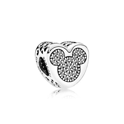Pandora Mickey & Minnie True Love Sterling Silver Charm 792050CZ