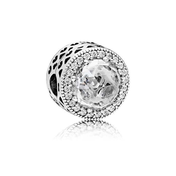 Pandora Radiant Hearts Clip in sterling silver 796239CZ