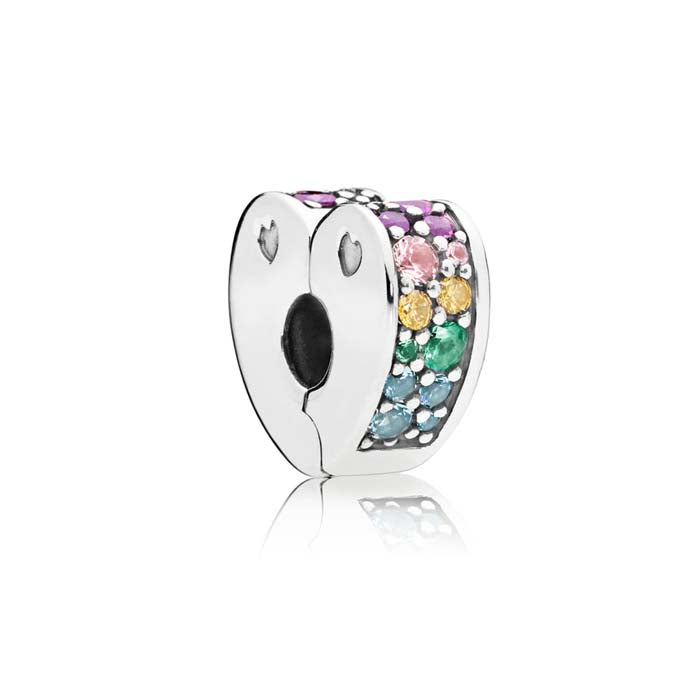 Pandora Multi-color Arcs of Love Clip in Sterling Silver 797020NRPMX