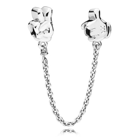 Pandora Disney Mickey Gestures Safety Chain in Sterling Silver 797172-05
