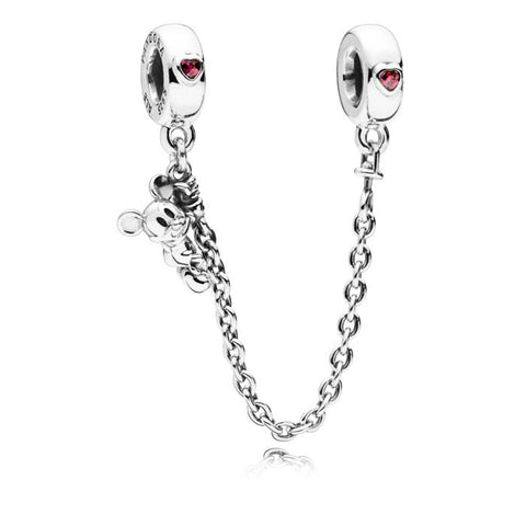Pandora Disney Climbing Mickey Safety Chain in Sterling Silver 797173CZR-05