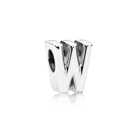 Pandora Letter W Charm Sterling Silver 797477