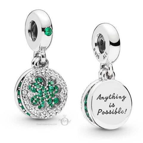 Pandora Dazzling Clover Dangle Charm Sterling Silver 797906NRGMX