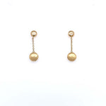 Antonio Papini Drop Linear Disc Earrings in 18K Yellow Gold