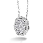 Hearts On Fire 1.40-1.50CTW Aurora Cluster Pendant in 18K White Gold