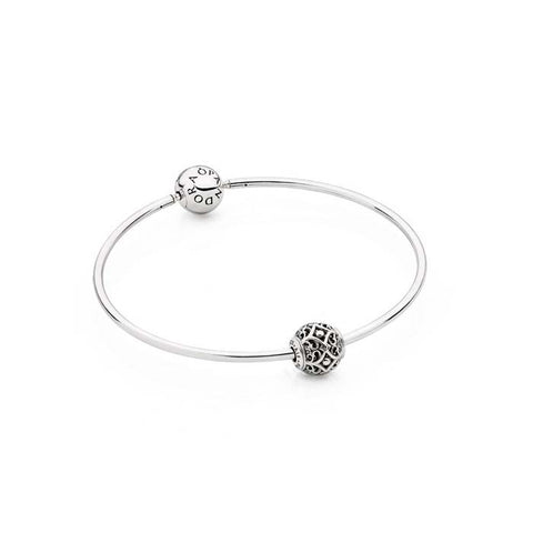 "Pandora 7.9"" Iconic Essence Bangle with Affection Charm Set, B800468-20"
