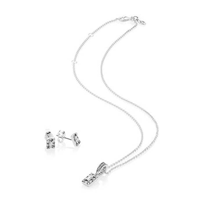 Pandora Luminous Ice Jewelry Gift Set in Sterling Silver B801003