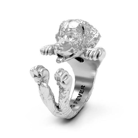 Dog Fever Bernese Hug Ring, Sterling Silver