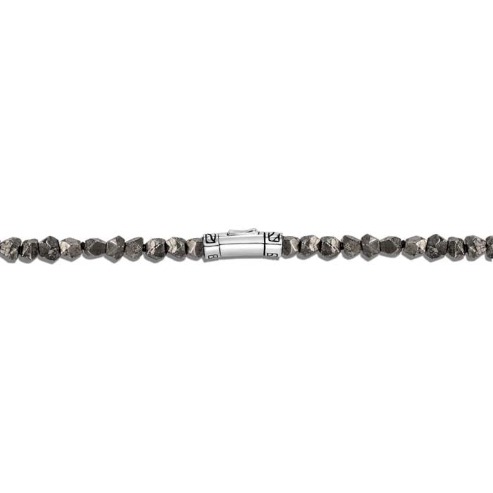 John Hardy Men's Pyrite, Tiger Iron, Smokey Quartz and Silver Calcite Beaded Classic Chain Bracelet in Sterling Silver