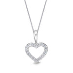 Mountz Collection 1.00-1.03CTW Heart Pendant in 14K White Gold