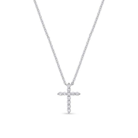 Mountz Collection .10CTW Diamond Cross Pendant in 14K White Gold