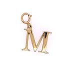 "Estate Initial ""M"" Charm in 14K Yellow Gold"