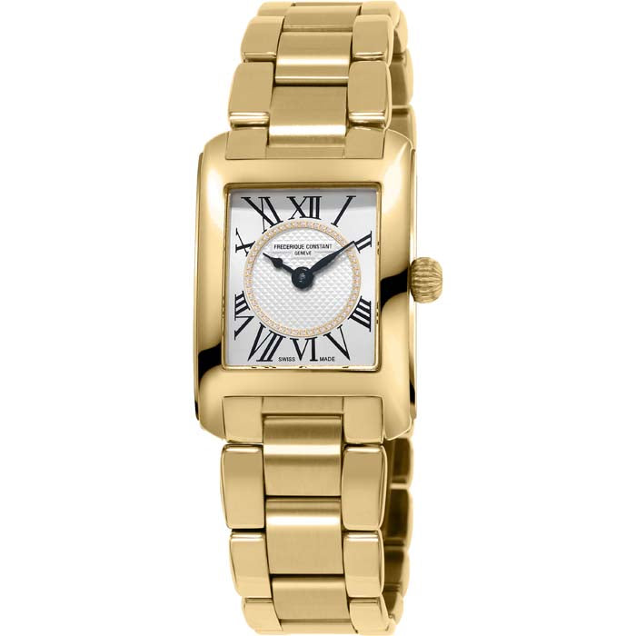 Frederique Constant .40D Carree Lds 21x23MM Rectangular Watch in Yellow Gold Plate Stainless Steel