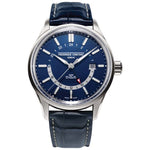 Frederique Constant 42MM Automatic Gts Yacht Timer Blue Dial, Navy Alligator Strap Watch