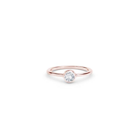 Natalie K Stackable Bezel Forevermark 18K Rose Gold Diamond Ring
