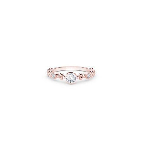 Natalie K Bezel Forevermark 18K Rose Gold Diamond Ring