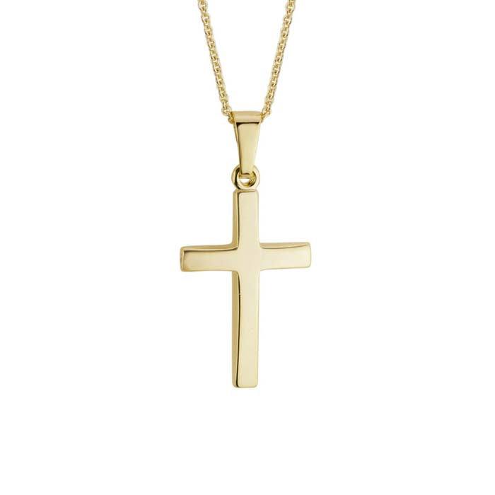Mountz Collection Plain Cross in 14K Yellow Gold