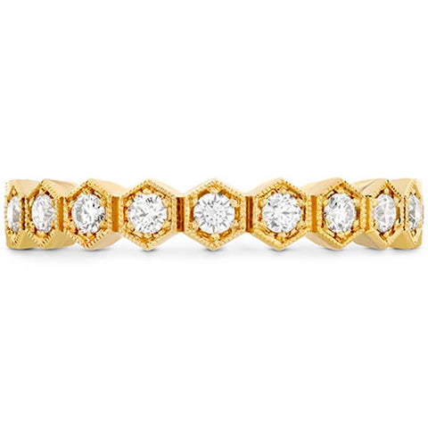 Hearts on Fire .34-.40CTW Hex Diamond Band in 18K Yellow Gold
