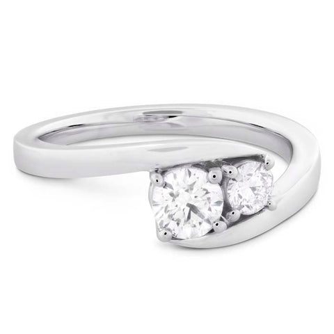 Hearts on Fire .50-.58CTW Two Diamond Ring in Platinum