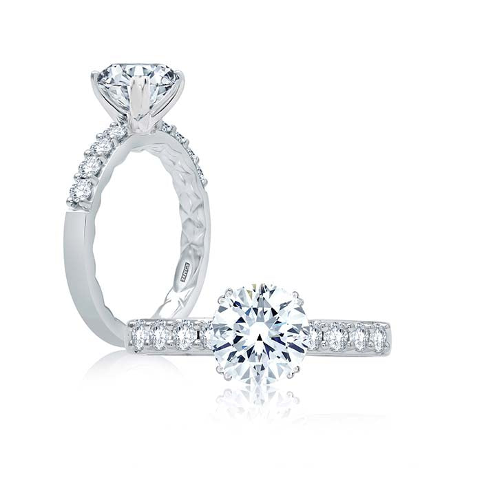 A. Jaffe .40TW Diamond Classic Collection Engagement Ring Semi-Mounting in 18K White Gold