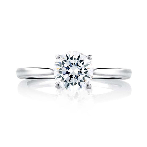 A. Jaffe Engagement Ring Seasons of Love Collection Solitaire with 1CT CZ Center in 18K White Gold