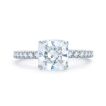 A Jaffe .47CTW Engagement Ring Semi Mount in 14K White Gold