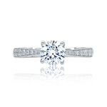 A Jaffe .29CTW Engagement Ring Semi Mount in 14K White Gold
