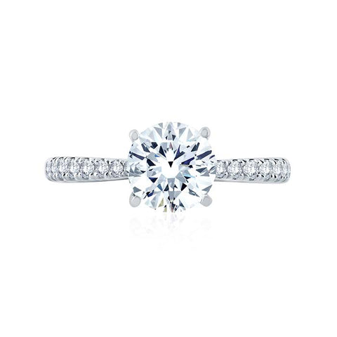 A. Jaffe .26CTW Engagement Ring Semi-Mounting in 18K White Gold