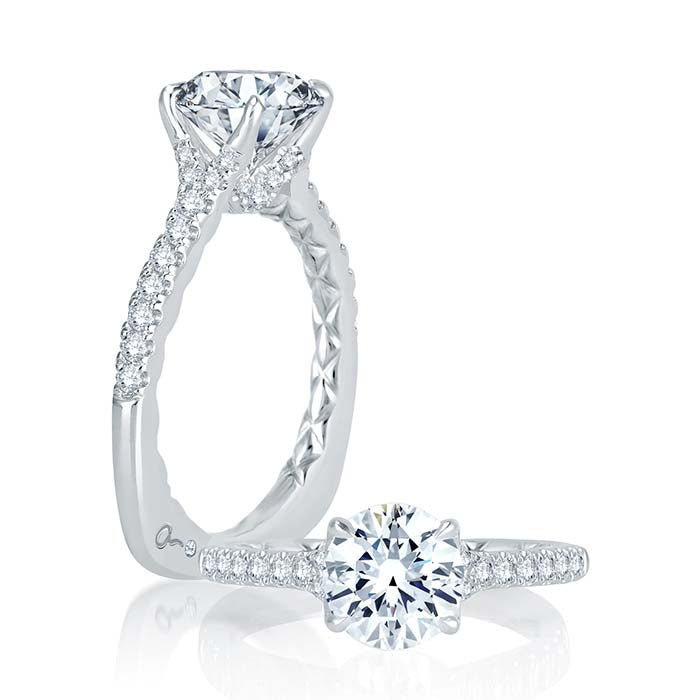 A. Jaffe .28CTW Enagagement Ring Semi-Mounting in 18K White Gold