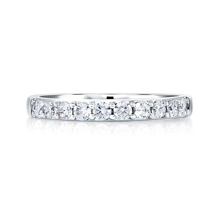 A Jaffe .26CTW Wedding Band in 18K White Gold