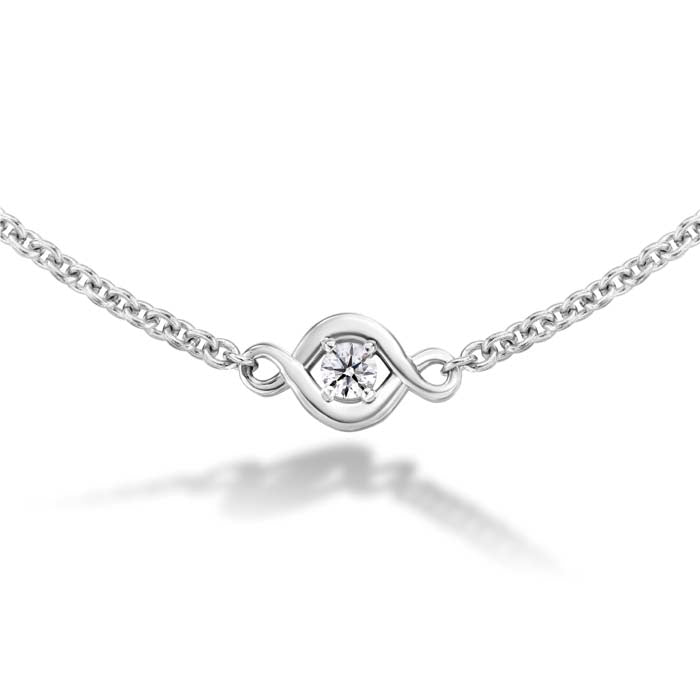 "Hearts On Fire .19-.25CTW 18"" Optima Station Necklace in 18K White Gold"