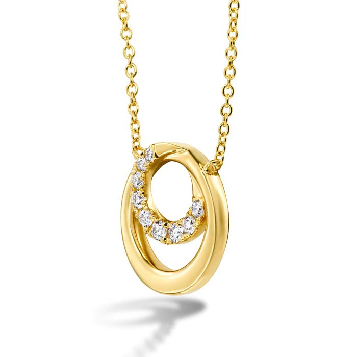 Hearts on Fire .14-.24CTW Optima Circle Pendant in 18K Yellow Gold