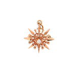 Estate .39CTW Diamond Convertable Brooch/Pendant in 10k Rose gold