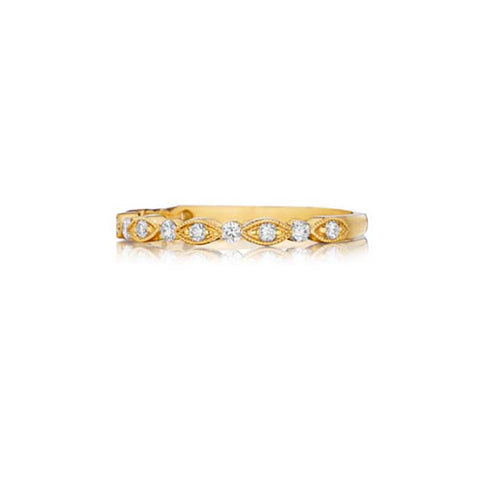 Henri Daussi Womens .20TW Stackable Band 18K YG
