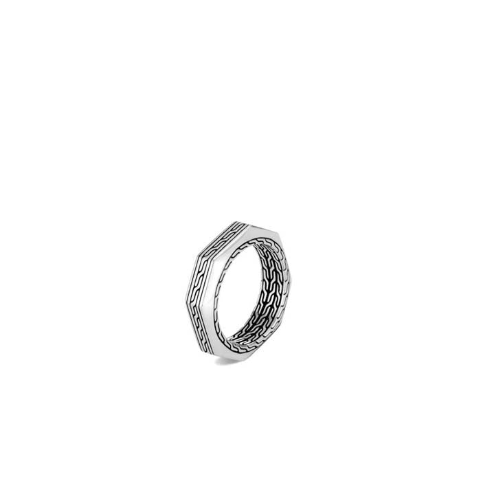 John Hardy Mens Classic Chain Band Ring