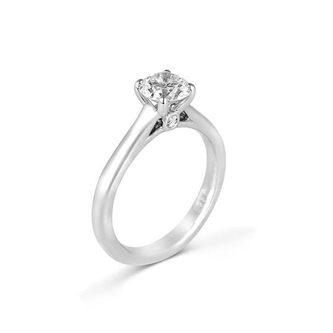 Fana Bridal .04CTW Solitaire Engagement Ring Semi Mount with Surprise Diamonds in 14K White Gold
