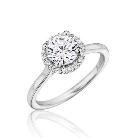 Fana Bridal .17CTW Round Halo Semi Mount in 14K White Gold