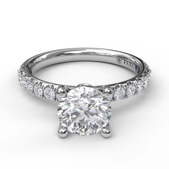 Fana .37TW Diamond Engagement Ring Semi-Mounting 14K White Gold