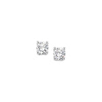 Mountz Collection .09-.12TW Round Diamond 4 Prong Stud Earrings in 14K White Gold
